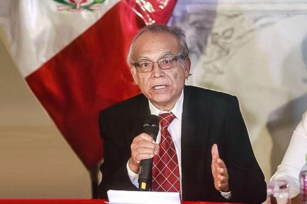 Aníbal Torres: «Limitar la cuestión de confianza es limpiar el camino para la vacancia presidencial»