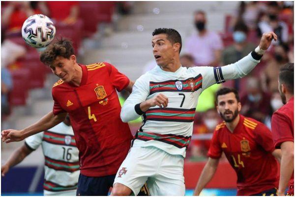 Con Cristiano Ronaldo, Portugal igualó sin goles ante España en amistoso previo a la Eurocopa