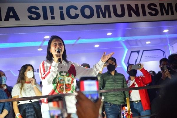 Keiko Fujimori: «Saco las fuerzas para decirle a la izquierda radical y a Perú Libre que nosotros vamos a levantar nuestra voz»