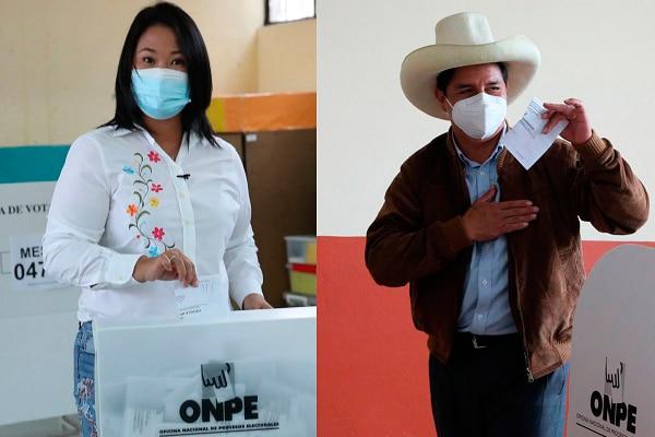 ONPE al 42.03%: Keiko Fujimori 52.90% y Pedro Castillo 47.09%