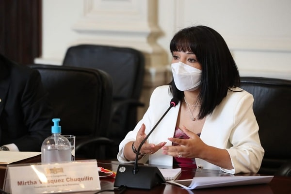 Presidenta del Congreso, Mirtha Vásquez, retrasó promulgación de leyes