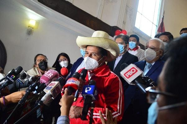 Pedro Castillo: «Pedimos disculpas si en la contienda hemos herido susceptibilidades»