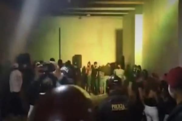 Lambayeque: Policía Nacional interviene a más de 100 personas en fiesta COVID-19