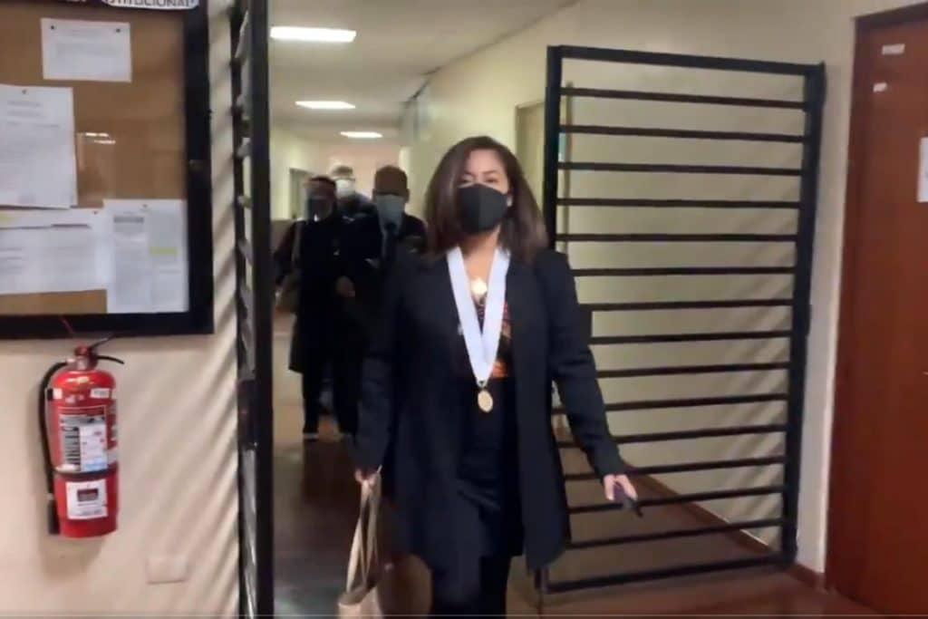 OCMA efectúa diligencia en despacho de jueza que ordenó al Congreso suspender elección de magistrados del TC