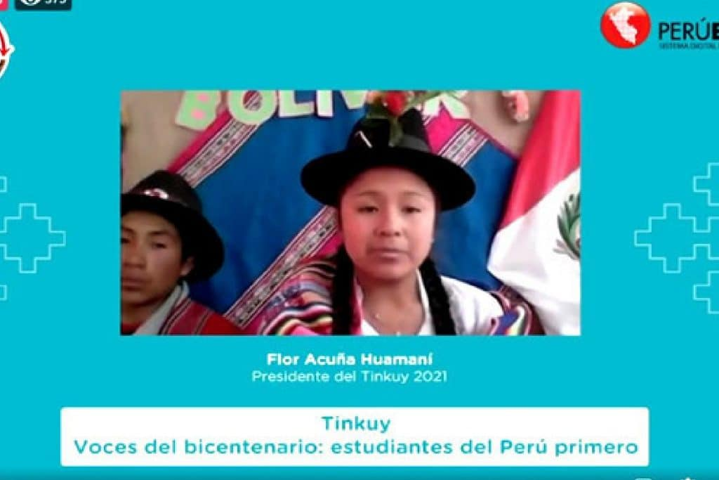 Tinkuy 2021: Flor Acuña se convirtió en la primera niña en asumir la presidencia del evento