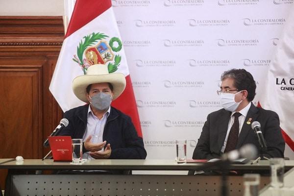 Presidente electo Pedro Castillo se reunió con el contralor Nelson Shack para coordinar el proceso de transferencia