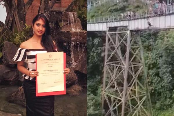 Colombia: joven abogada falleció luego de caer 50 metros haciendo «bungee-jumping»