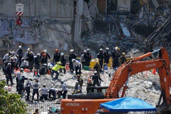 Derrumbe en Miami: aumentan a 22 las muertes confirmadas