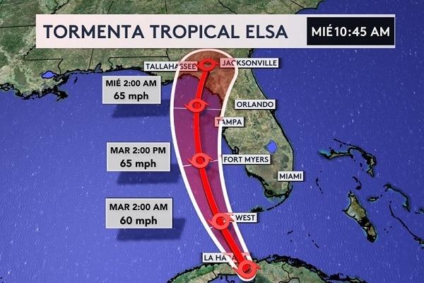 Tormenta Elsa descarga fuertes lluvias en Cuba y se dirige a Estados Unidos