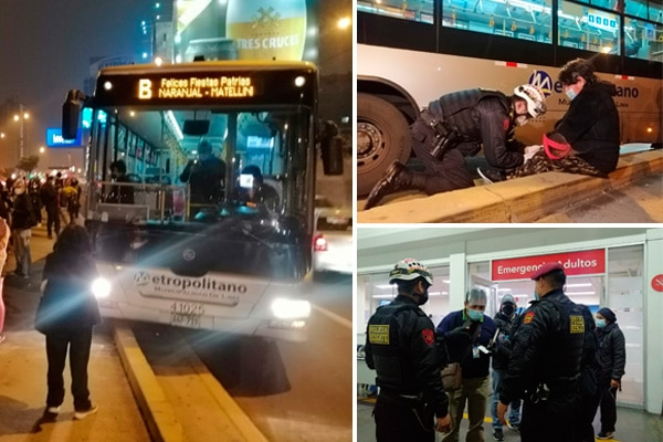 Metropolitano: bus pierde el control y heridos fueron trasladados sin éxito a cuatro clínicas por problemas con el SOAT