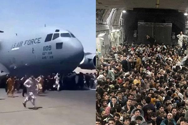 Afganistán: más de 600 personas huyen del país en avión estadounidense