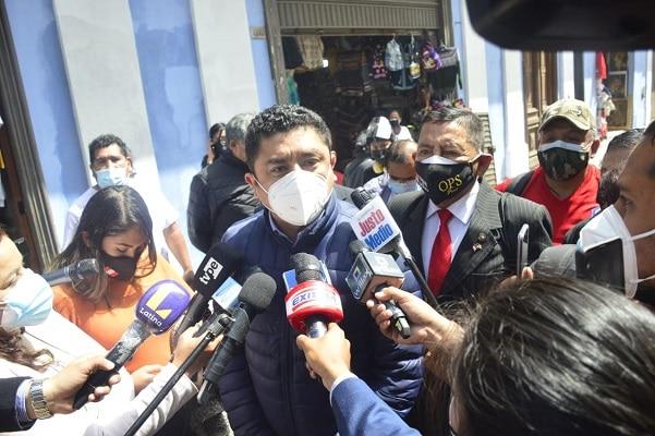 Guillermo Bermejo y Roger Nájar se reunieron con Ministro del Interior