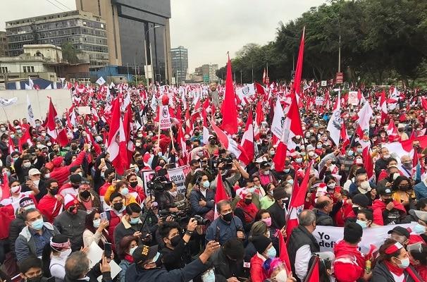 Así se desarrolló la marcha contra el gobierno de Pedro Castillo | FOTOS