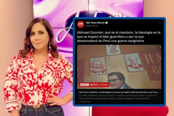 Andrea Llosa indignada con la BBC por llamar «líder guerrillero» a Abimael Guzmán