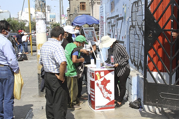 Movadef participa en recojo de firmas de Perú Libre