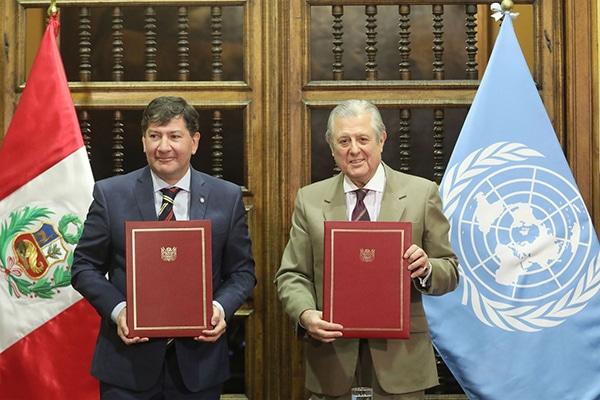 Perú y ONU suscribieron nuevo marco de cooperación por US$ 180 millones