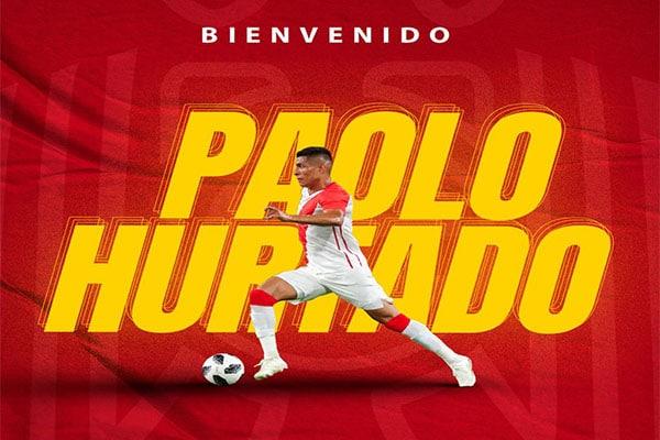 ¡OFICIAL! Paolo Hurtado es nuevo jugador de la Unión Española de Chile