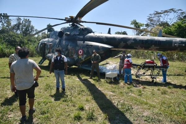 Dos menores con neumonía fueron trasladados a Puerto Maldonado en helicóptero del Ejército