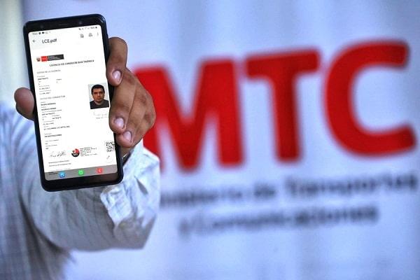 MTC: conductores no recibirán infracción por no presentar licencia de conducir físico