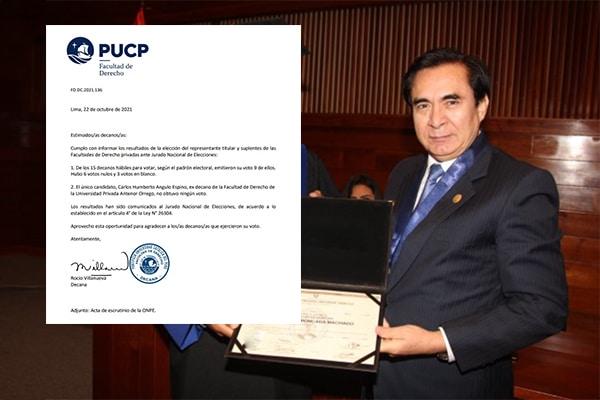 Candidato de la PUCP a JNE obtiene cero votos