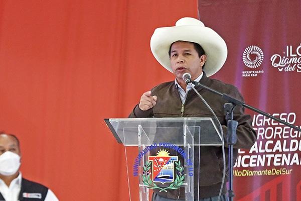 Pedro Castillo cobra sueldo presidencial